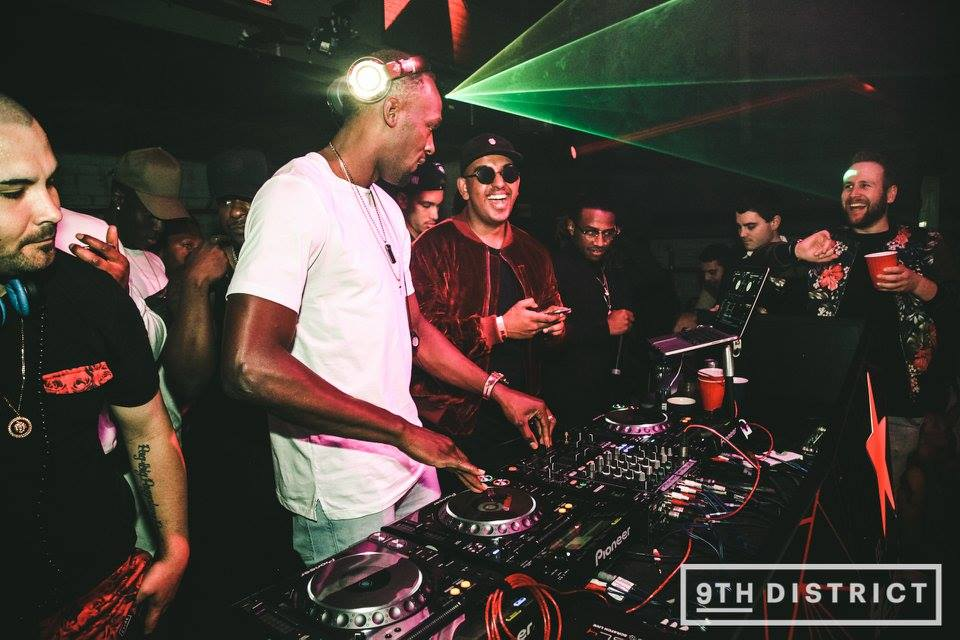 Usain Bolt parties with DJ Horizon in Melbourne