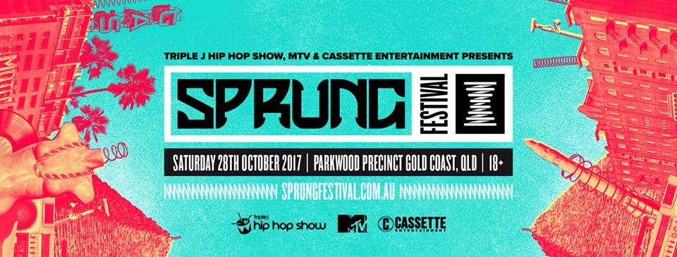 SPRUNG FESTIVAL LINEUP ANNOUNCEMENT - NEW WAVE TAKES OVER