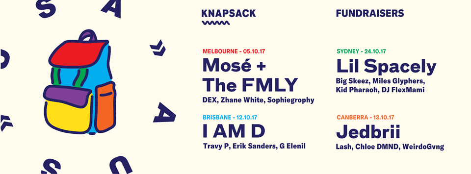 KNAPSACK PRESENTS - THE AUS/NY HIP HOP EXCHANGE FUNDRAISERS