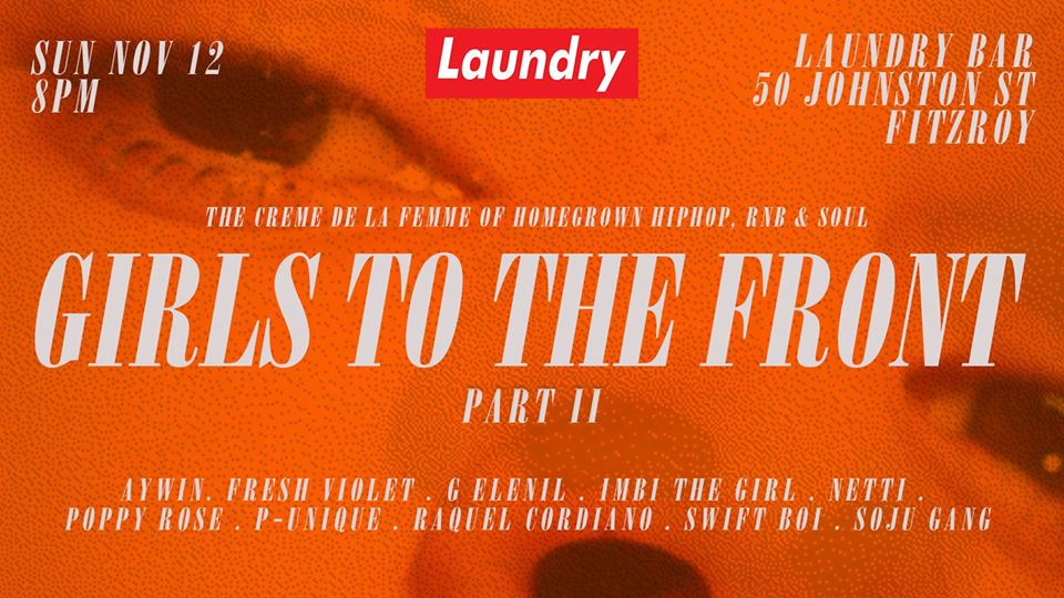GIRLS TO THE FRONT NO.2 - TOMORROW @ LAUNDRY BAR